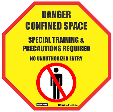 confined space warning sign