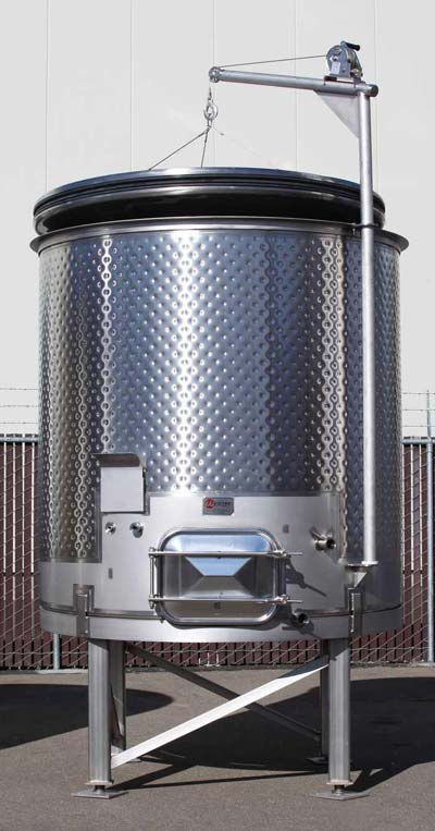 floating lid stainless wine tank