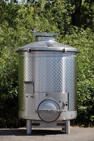 portable stainless wine tanks wide dimple jackets